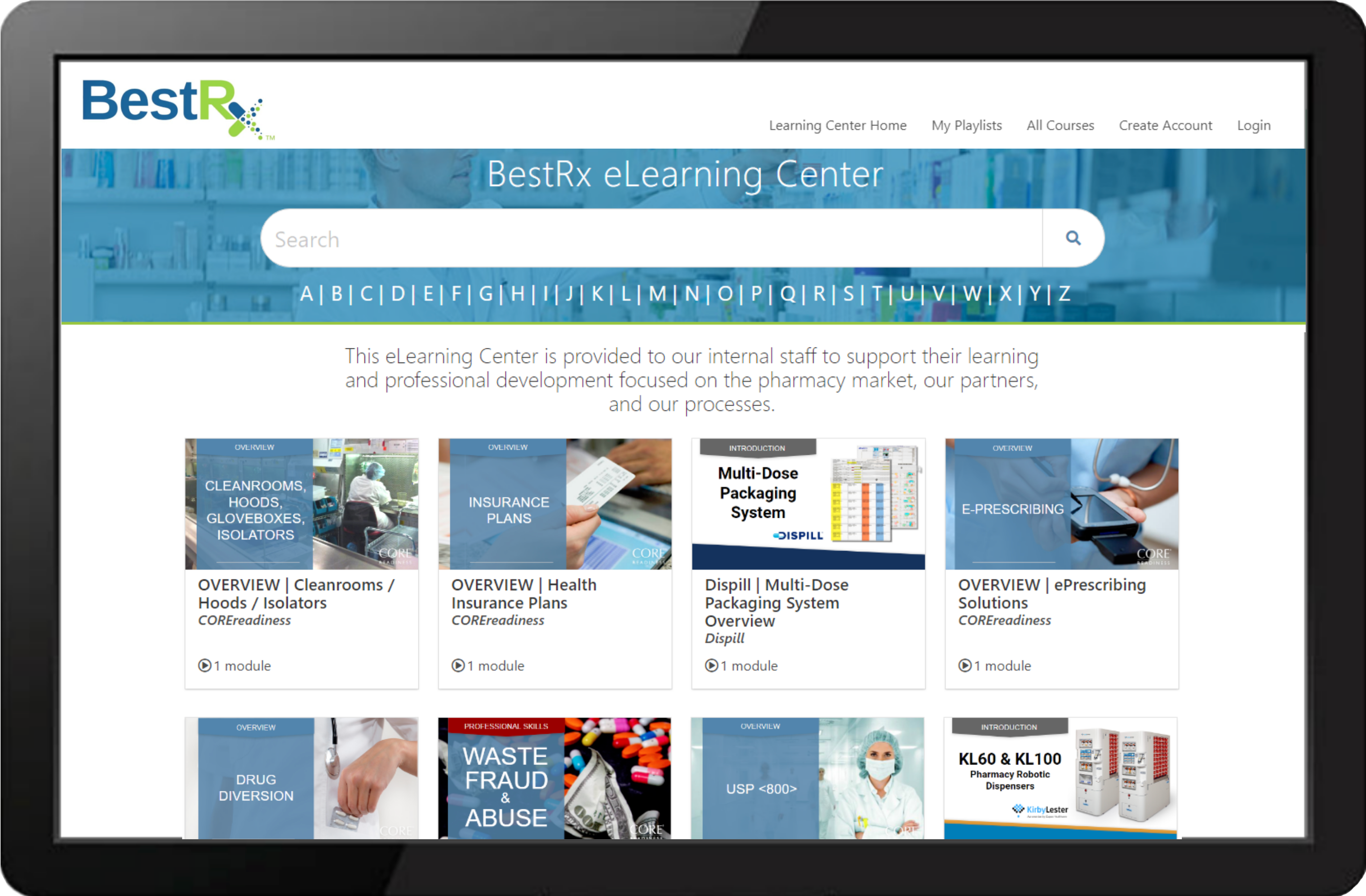 Best RX LearningCenter Example