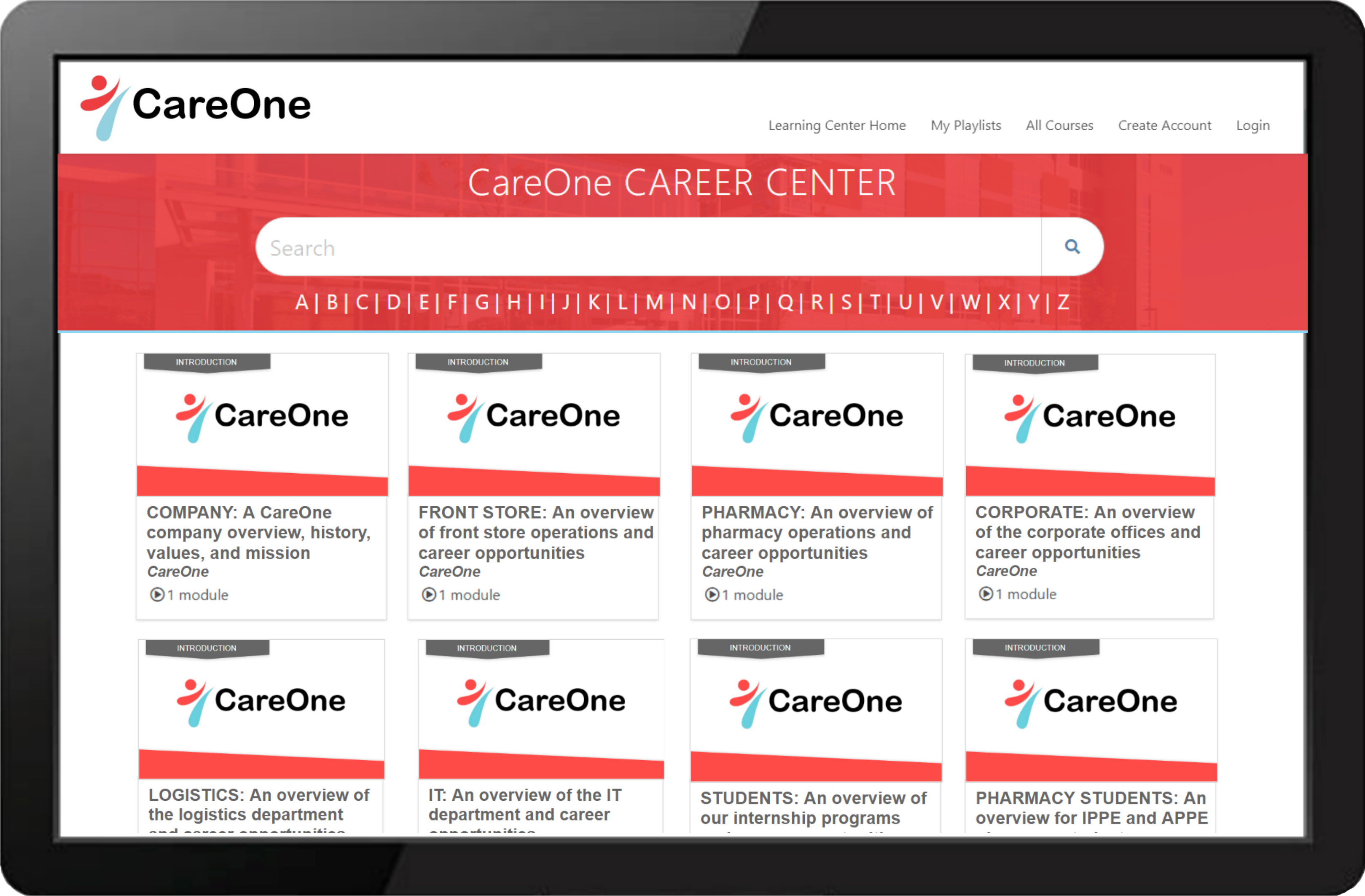 Care One LearningCenter Example