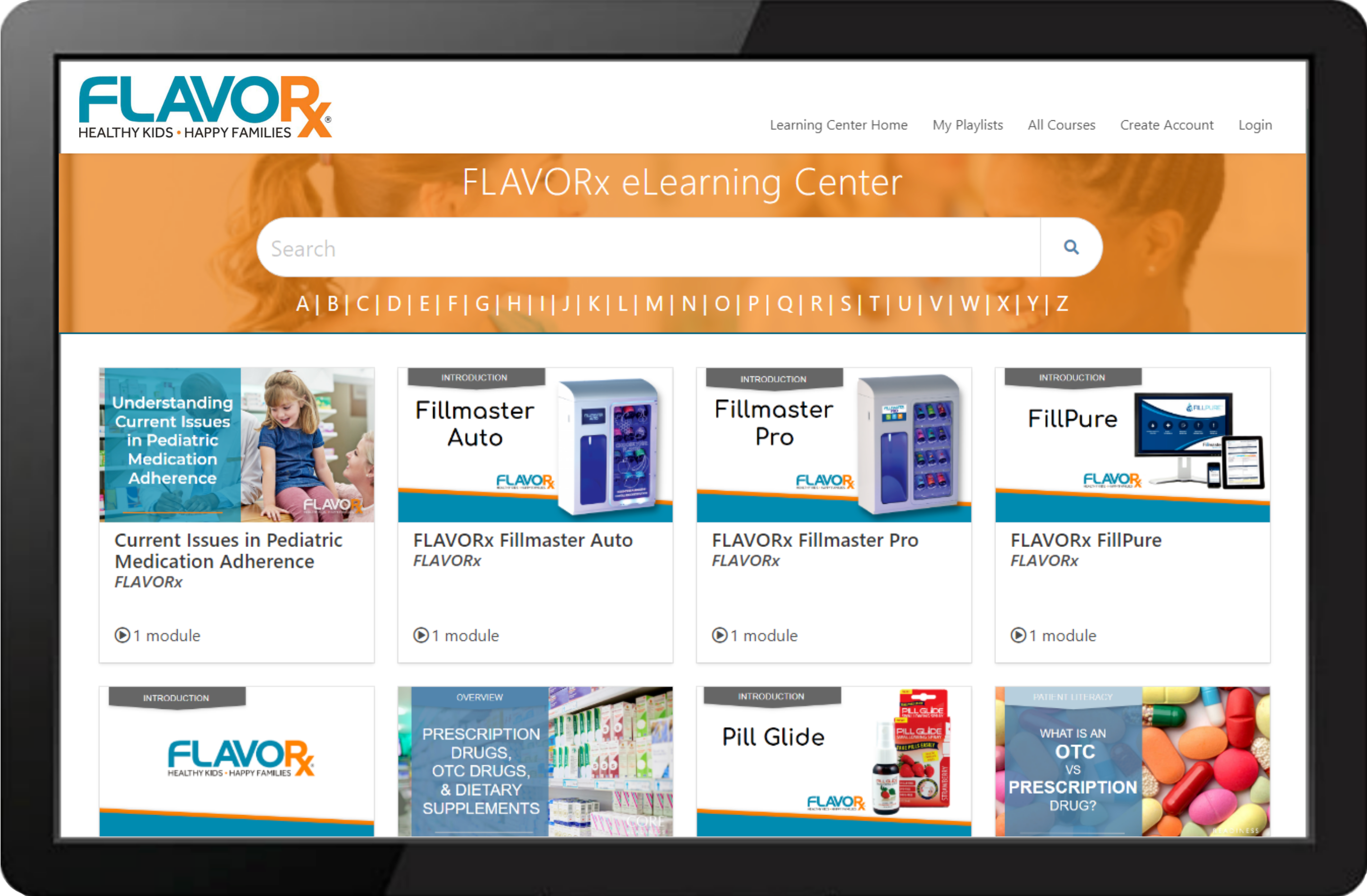 FLAVORx LearningCenter Example