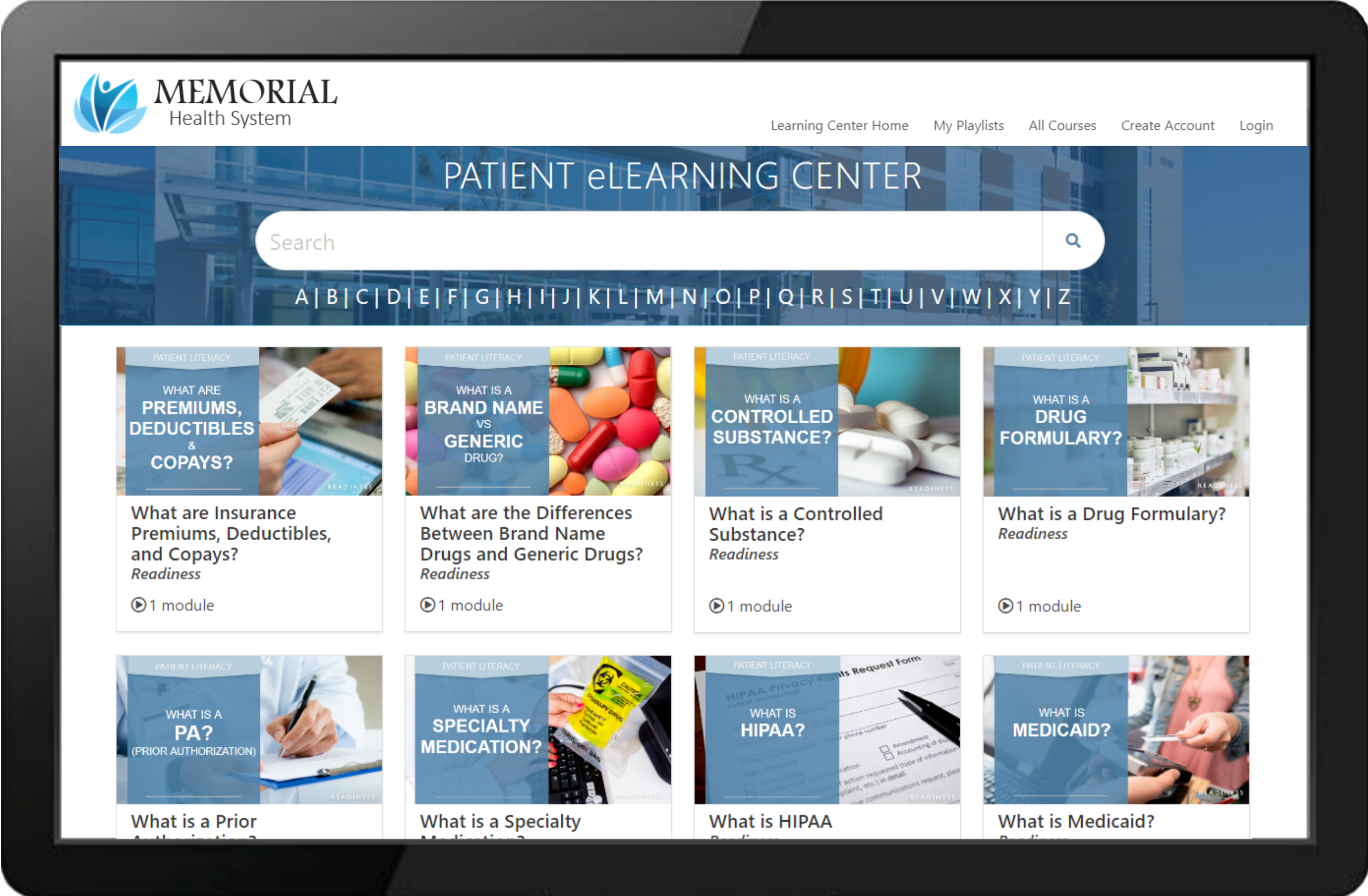 Memorial Health System Learning Center Example